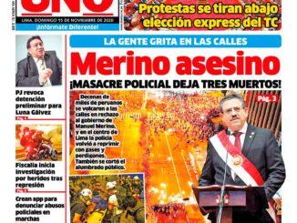 Diario Uno, 15.11.2020: Mörder Merino