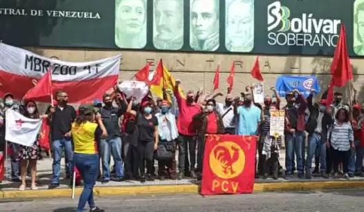 Wahlkampf vor der Zentralbank in Caracas. Foto: Tribuna Popular