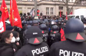 Polizei gegen LL-Demo, 10. Januar 2021
