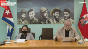 Enrique Ubieta aus Kuba bei der Rosa-Luxemburg-Konferenz 2021