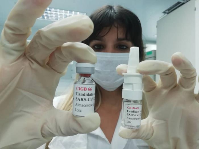 Impfstoffkandidaten des CIGB. Das CIGB-66 (Abdala) und das CIGB-669 (Mambisa). Foto: BioCubaFarma
