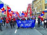 Wohnen ist ein Recht: Demonstration in Luxemburg. Foto: ZLV