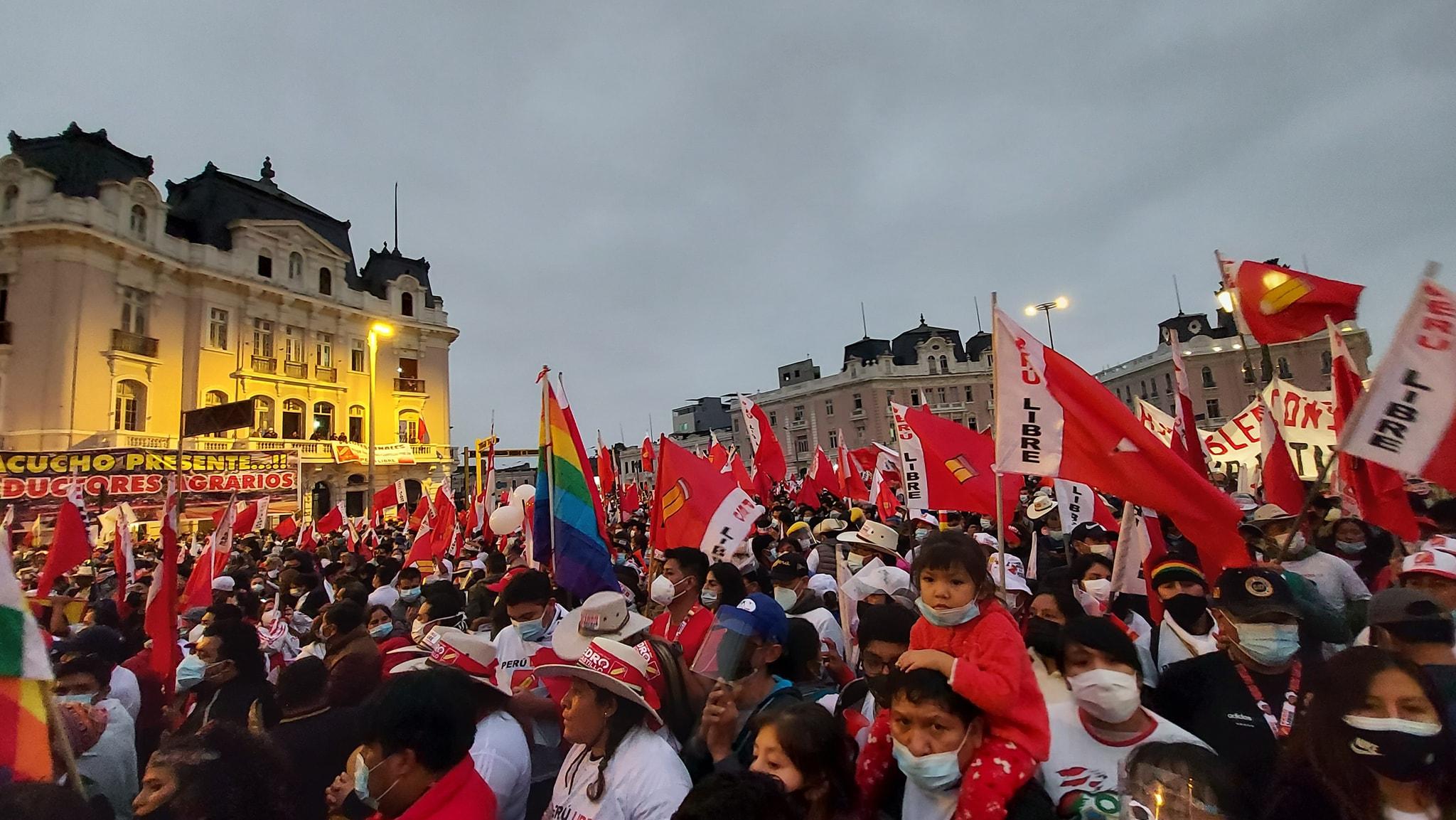 Wahlkampfabschluss von Pedro Castillo. Foto: Pedro Castillo Presidente 2021 via Facebook