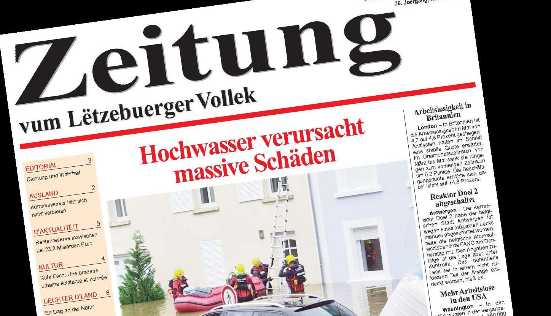 Zeitung vum Lëtzebuerger Vollek, 16. Juli 2021