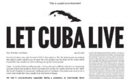 Offener Brief an US-Präsident Biden: Lasst Kuba leben!